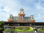 Main Street Train Station at Magic Kingdom