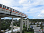 Monorail leaving the Contemporary Resort