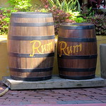 Barrels of Rum outside Jack Sparrow show